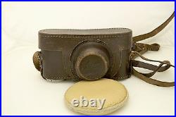 1936 Leica III camera with Leitz Summar F=5cm 12 lens and case