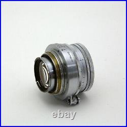 1955 Leitz/Leica Screwmount Collapsible Summicron 50 f/2 + caps + UV v. Clean
