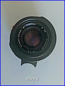 BOXED LEICA LEITZ 12/35mm SUMMICRON-M 11310 BLACK PRE ASPH V4 BOKEH KING