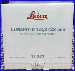 Brand New Unused Leica Elmarit-R 28mm F2.8 Wide Angle Lens 11247 Leitz