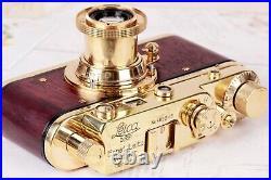 Camera Leica D. R. P. Vintage rangefinder Film Lens Leitz Elmar 50mm Gold