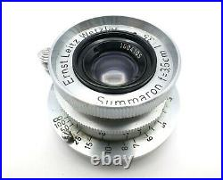 Ernst Leitz Wetzlar Leica Summaron f=3.5cm 13.5 LTM 39 Lens withCaps