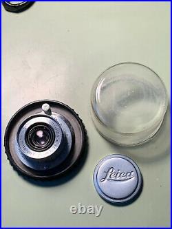 Ernst Leitz Wetzlar Leica Summaron f=3.5cm 13.5 withCap & Case SN 1062253
