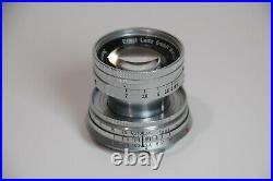Exc Leica Summicron Leitz 5cm 50mm f2 Collapsible M Mount Lens