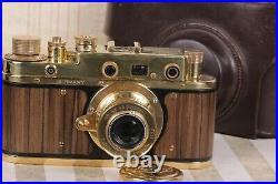 LEICA D. R. P. Art Camera + Leitz Elmar Lens Vintage 35mm Red color /FED Based