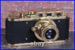 LEICA Kriegsmarine Vintage Camera +Leitz Elmar (3.5/50) Black Zorki Copy