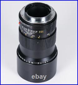 LEICA LEITZ 180MM Elmarit-R F2.8 type 2 E67 11923 3-cam R lens + caps