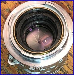 LEICA LEITZ 50MM SUMMICRON F2 VINTAGE CHROME RIGID M LENS Super Clean Beauty