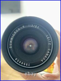 LEICA LEITZ Summicron R 50mm f/2 MF R M Lens W Fotodiox Canon EF Adaptor