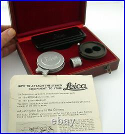 LEICA Leitz Stemar M 3,5 F3,5 33mm 3,3cm 3,3 Stereo No. 37 Laney FULL set look