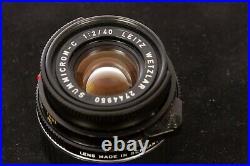 LEICA-M Leitz SUMMICRON-C 40mm f/12 überholt in Wachwerkstatt