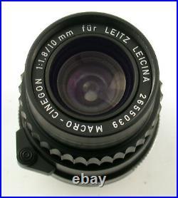 LEICA Macro-Cinegon 1,8/10 10 10mm F1,8 1,8 M-mount Leicina Special Leitz