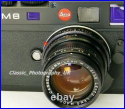 LEICA Summicron-M 12/50mm SHARP Prime Lens Made by LEITZ Canada in 1978