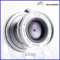 LEITZ Leica Elmar L39 50mm/F2.8 Lens Yr. 1958 LTM Germany #497