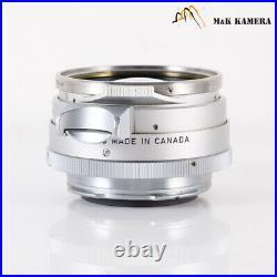 LEITZ Leica Summilux M 35mm/F1.4 Steel Rim Lens Yr. 1960 Canada #924
