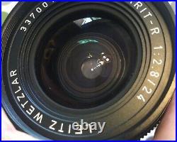 LEITZ WETZLAR ELMARIT R 24mm 12.8 WIDE ANGLE CAMERA LENS with LEICA R MOUNT