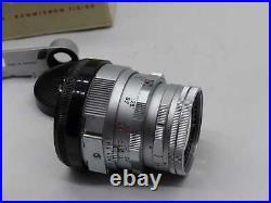 LEITZ WETZLAR Summicron-N 50mm 12 SOMNI 11918 (M+DR-rigid-chrom)1787711(5954-4)