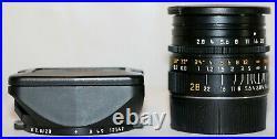 Leica 11809 Leitz Elmarit-M 12.8/28mm v4 E46 6-bit Lens Germany Beautiful