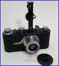 Leica 1A Film Camera with 50mm Leitz Elmar Lens & accessories 1929 Rare Collect