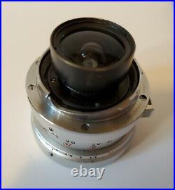 Leica 21mm f/3.4 Super-Angulon M-Mount Chrome Lens & Hood, Leitz Wetzlar Germany