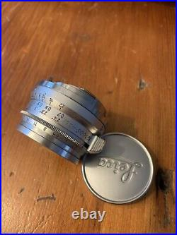 Leica 35mm F2.8 Summaron-M Chrome / Silver Leitz Lens CLAd