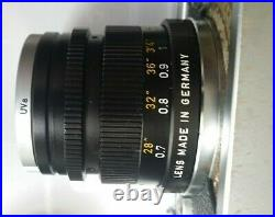 Leica 50mm F2 Summicron V3 Made in Germany Leitz Lens EXC+