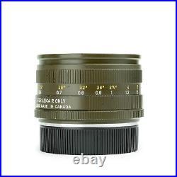 Leica 50mm f2 SUMMICRON-R V2 E55 Leitz Lens Rare Safari Version