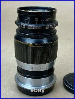 Leica 9cm F/4 Elmar Leitz M39 Screw mount 90mm Black Lens #355256