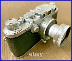 Leica D. R. P Ernst Leitz Wetzlar 35mm Camera Body with Summitar f=5 cm 12 Lens