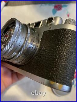 Leica DRP Ernst Leitz GmbH Wetzlar Vintage Film Camera with Summicron f=5cm Lens