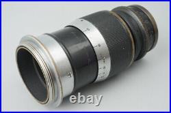 Leica Ernst Leitz Wetzlar Elmar 9cm 90mm f/4 F4 Lens Black, M39 L39 Mount