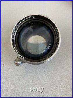 Leica Ernst Leitz Wetzlar Summitar 5cm f2 Lens M39 (50mm)