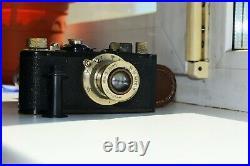 Leica I Standart Black DRP 1932 RANGEFINDER Film Camera withs lens Leitz Elmar EXC