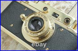 Leica II D Berlin 1936 Camera lens Leitz Elmar Exclusive (Fed Zorki copy) stock