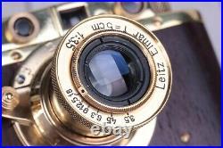 Leica II D Berlin 1936 Camera lens Leitz Elmar, Vintage Camera (Fed Zorki copy)