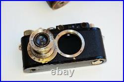 Leica II DRP Black Edition 1932 RANGEFINDER Film Camera withs lens Leitz Elmar EXC