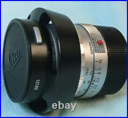Leica LEITZ WETZLAR SUMMILUX 50mm F1.4 with Hood M MOUNT Made in Germany #175745