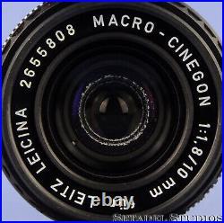 Leica Leitz 10mm Macro-cinegon F1.8 21002 Leicina Special M Lens +box +caps