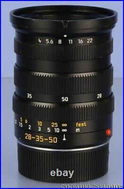 Leica Leitz 28-35-50mm Tri-elmar-m F4 Asph 11890 Black M Lens +rear Cap Clean