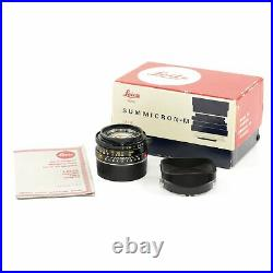 Leica Leitz 35mm F2 Summicron-m Black 4th Version King Of Bokeh Box 11310 #3293