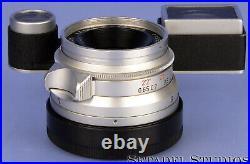 Leica Leitz 35mm Summaron F2.8 11106 Chrome M3 Lens +eyes Attachment +cap