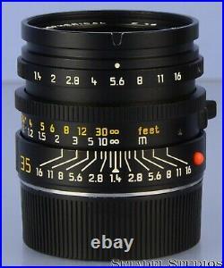 Leica Leitz 35mm Summilux-m F1.4 Double Aa Aspherical 11873 Lens +shade +box Wow