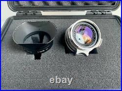 Leica Leitz 35mm f/1.4 Summilux-M 1st Version Steel Rim withOllux Hood 1960 Rare