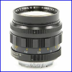Leica Leitz 50mm F1.2 Noctilux + 12503 Hood + Box Extremely Rare 11820 #2963