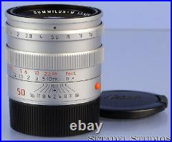 Leica Leitz 50mm Summilux-m F1.4 Chrome 11855 Pre Asph M Lens Brass +caps Mint