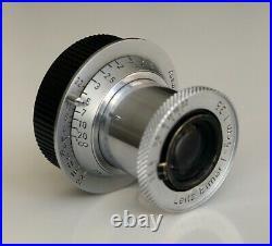 Leica Leitz Elmar 5cm 50mm f3.5 M39 LTM Lens in Excellent condition