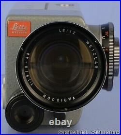 Leica Leitz Leicina 8mm Movie Camera +variogon 8-48mm F1.8 Lens +brochure Nice