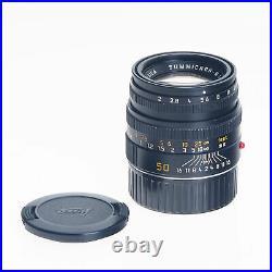 Leica Leitz M 50mm F2 6-Bit E39 Summicron Standard Rangefinder Lens Black 11826