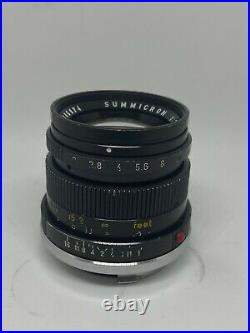 Leica Leitz Summicron-M 50mm f2 Type 3 lens Made in Germany M mount