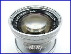 Leica Leitz Wetzlar Summicron f=5cm 12 39mm Leica Thread Mount Lens